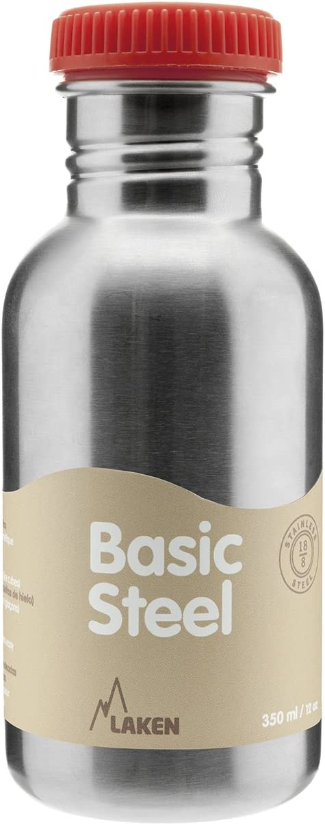 Laken BS50R Botella de Acero Inoxidable conTapón, 500 ml, Rojo
