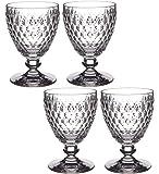 Villeroy & Boch Boch Boch Boch Boch 制造耐用水晶玻璃杯 – 12 英寸 x 4 X 白色*杯,白色,17 x 17 x 13 厘米,4 件装
