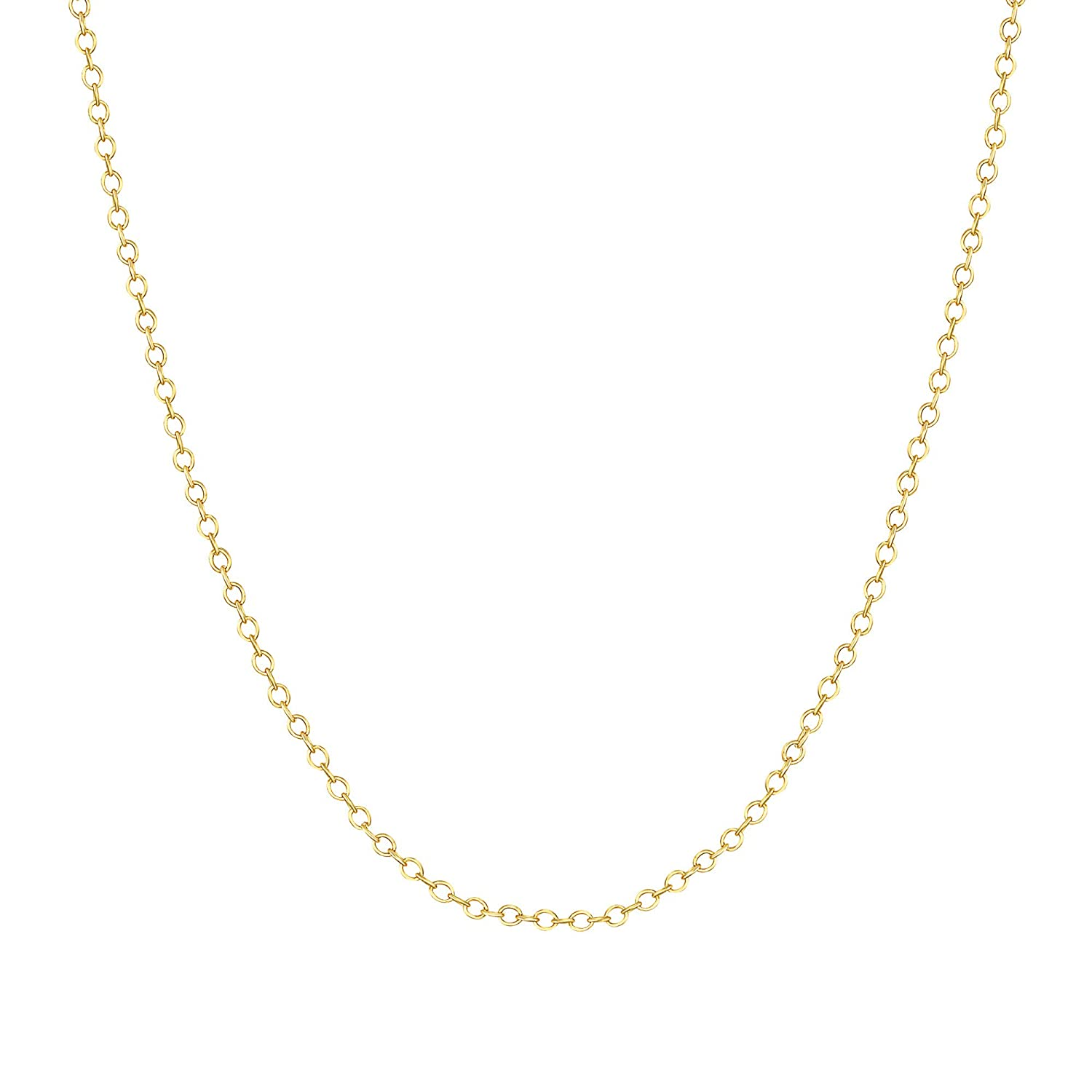 TousiAttar 14k Rose Gold-Filled Cable Chain Necklace Pendant 16-18 Inches 1.4 MM