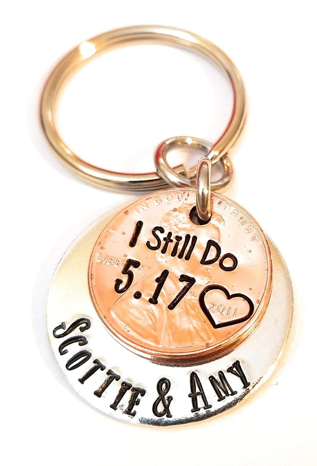 Personalized Keychain anniversary gift for man name Keychain