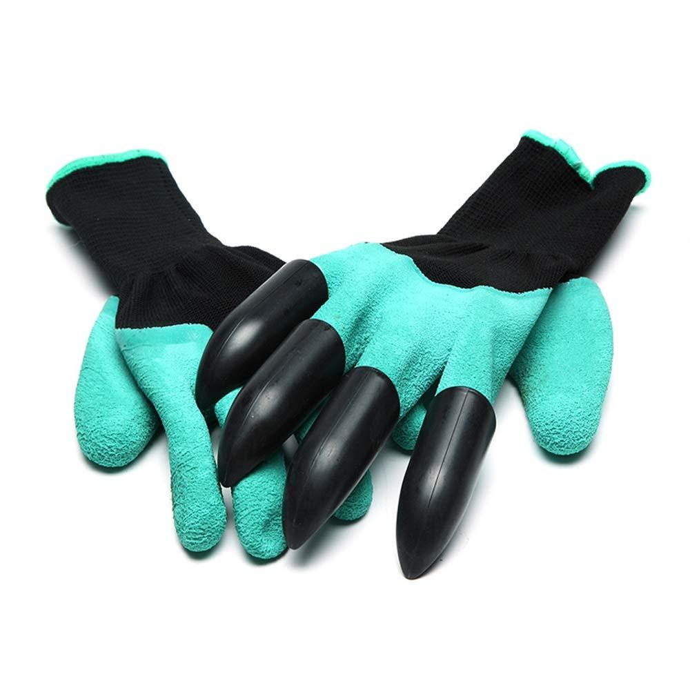 Tuersuer Easy to Assemble Garden Gloves A Pair Gardening Digging Gloves Planting Foam Rubber Polyester Safety Work Gloves