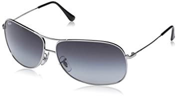 15346b6c7c16 Image Unavailable. Image not available for. Colour: Ray-Ban Men's Gradient  Aviator RB3267-003/8G-64 Silver Aviator Sunglasses