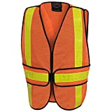 Pioneer V1030450-O/S All-Purpose Safety Vest, High Visibility Orange, Fits All