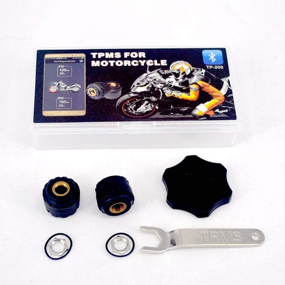 RONSHIN Automotive Wireless Motorcycle Bluetooth Tire Pressure Monitoring System External Sensors