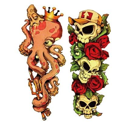 Flor de la moda brazo tatuaje pegatinas tatuaje impermeable ...