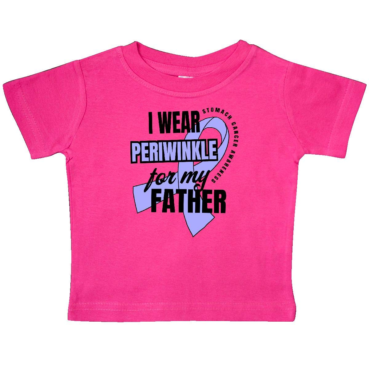 inktastic I Wear Periwinkle for My Father Stomach Cancer Awareness Baby T-Shirt