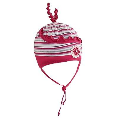 Fiebig Bonnet De Bébé Fille Cravate À Lanières Cap D Automne Jersey Mi- Saison Strié Avec Application Pour (FI-70536-W16-BM0) incl.  EveryHead-Hutfibel 192d211b504