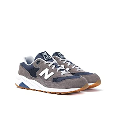 promo code 75ea6 180fa New Balance 580 Grey & Navy Suede Trainers - UK 8.5: Amazon ...