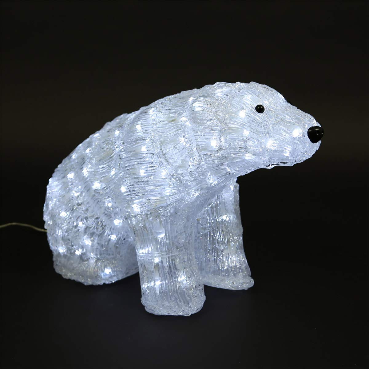 CLGarden LED Eisbär LEDB160 gross Acryl Bär Weihnachtsbeleuchtung mit Beleuchtung Weihnachts