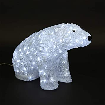 Weihnachtsbeleuchtung Tiere.Clgarden Ledb160 Led Polar Bear Large Acrylic Christmas Lighting