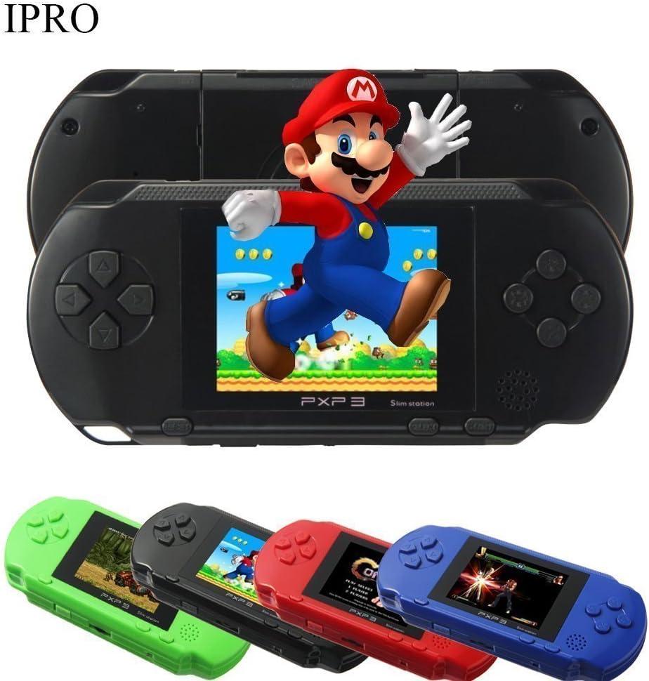 288be0b64d6 Amazon.com  16 Bit 150+ Games Handheld Game Console 2.8 Inch Portable Video  Game Retro Megadrive PXP(black)  Video Games