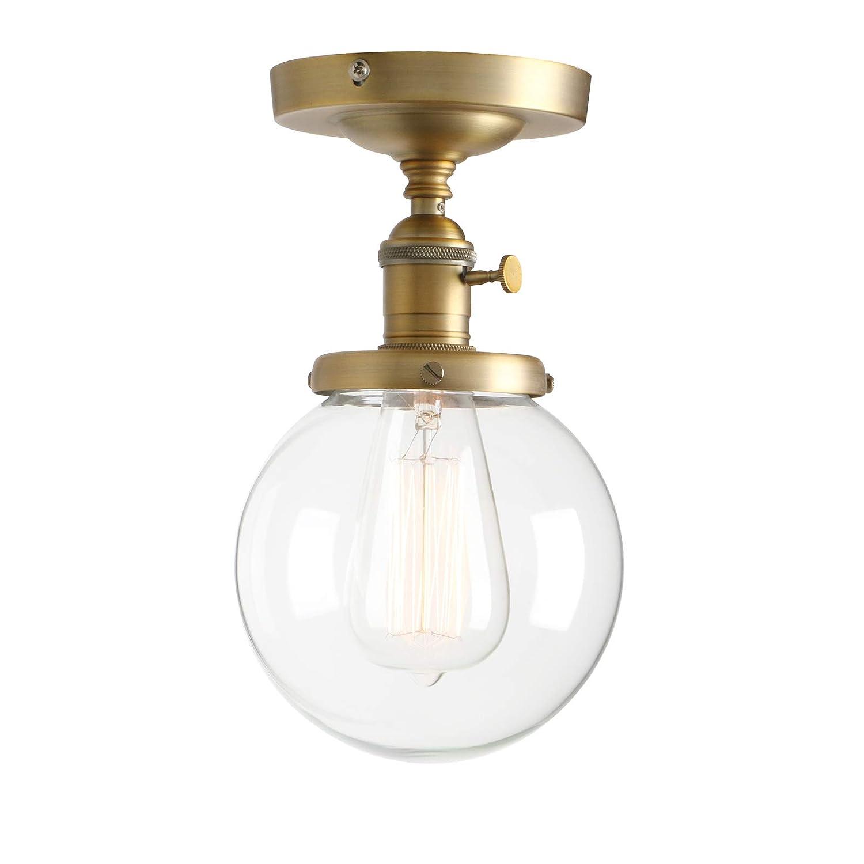 Permo Vintage Industrial Mini 59 Round Clear Glass Globe Semi