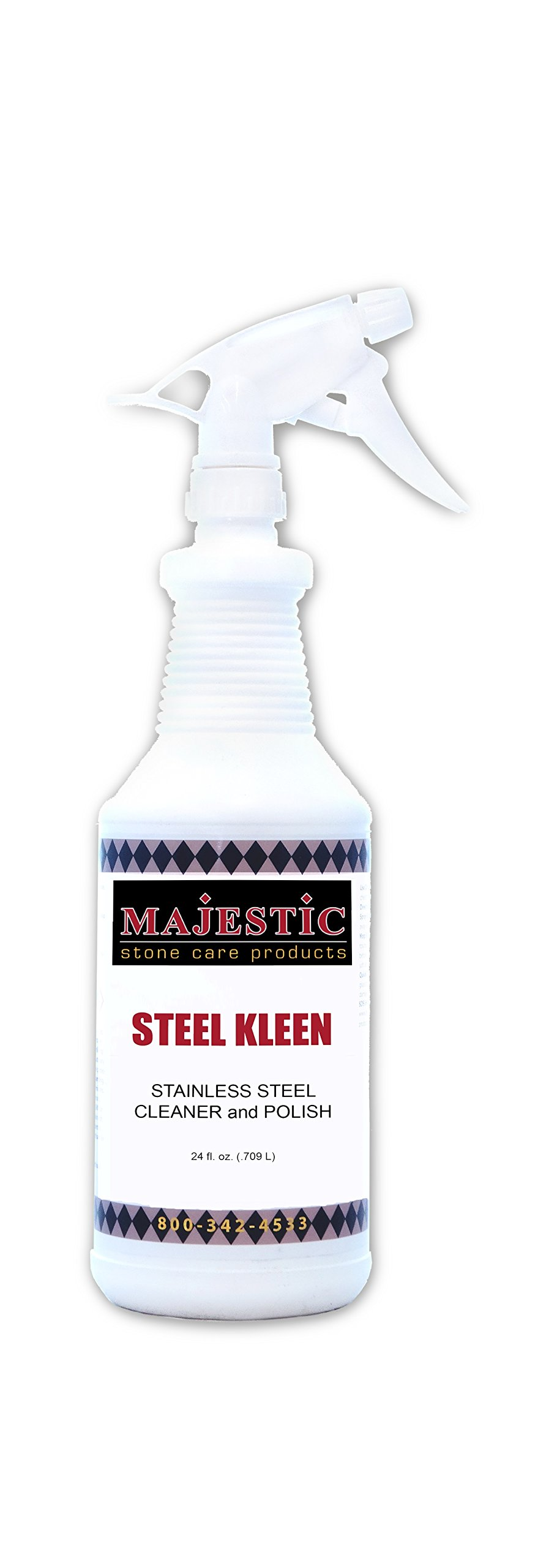 Steel Kleen Stainless Steel Cleaner 24 Oz Case/6 by Majestic Stone Care Products