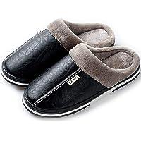 Hsyooes Zapatillas Mujer Invierno Hombre Resistente al Agua Interior Casa Caliente Slippers Suave Algodón Zapatilla…