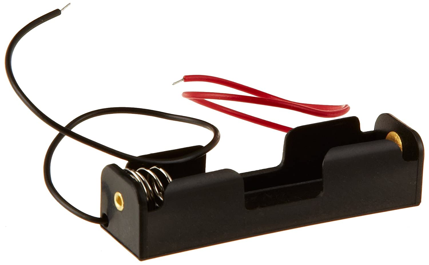 Ajax Scientific Battery Holder with Lead Wire, 1x AA Cell (Pack of 10) EL020-0001