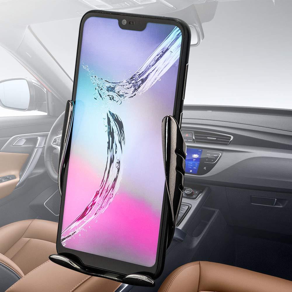 FREESOO Cargador Inal/ámbrico Coche QI Carga R/ápida Cargador de Coche Soporte M/óvil Aplicable a Rejillas del Aire para iPhone X//XS//XR//8//8 Plus Samsung Galaxy Huawei /Último Estilo Actualizado