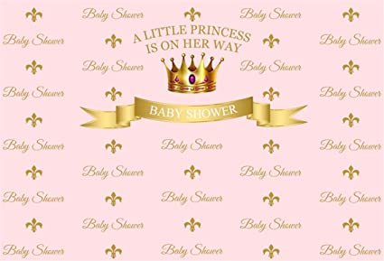 Amazon Com Csfoto 5x3ft Background For Golden Crown Sweet Girl Baby Shower Photography Backdrop Pregnant Welcome Little Princess Banner Gender Reveal Party Newborn Infant Photo Studio Props Polyester Wallpaper Camera