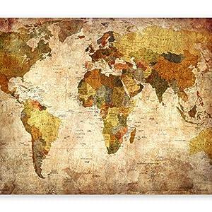 murando – Design Mapa Mundial XXL 140×100 cm – Bilateral – Impreso & Laminado Bilateral – póster Mapa & el Kit de Pegatinas k-A-0360-af-a