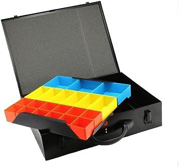 Caja de metal con compartimentos para organizar herramientas de DJM Direct: Amazon.es: Bricolaje y herramientas