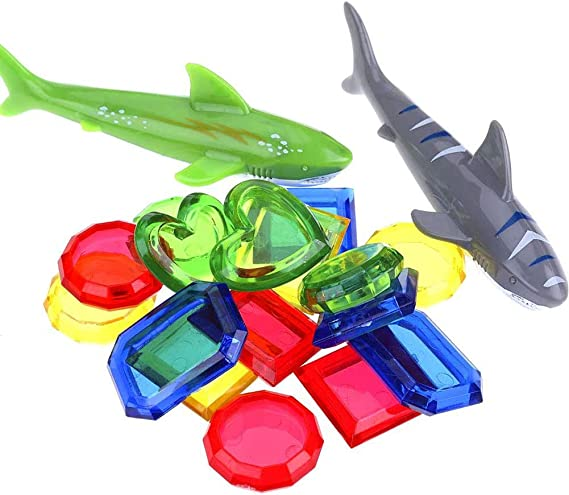 Killow Juguetes de Buceo 34 Piezas Juegos de Agua Verano Piscina Juguetes para Nadar Bajo el Agua Conjunto Juguetes de Entrenamiento Torpedo Bandit