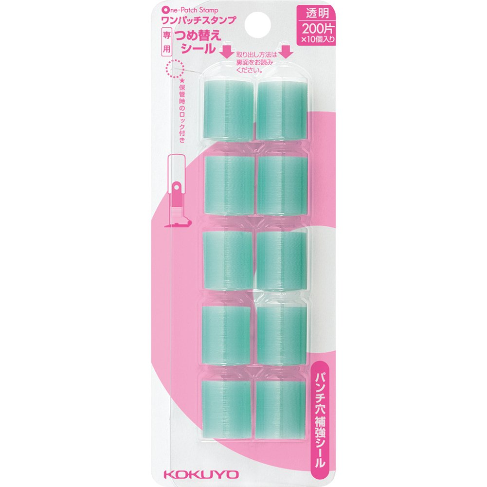Kokuyo one patch stamp dedicated refill seal 10 pack data -PS3X5