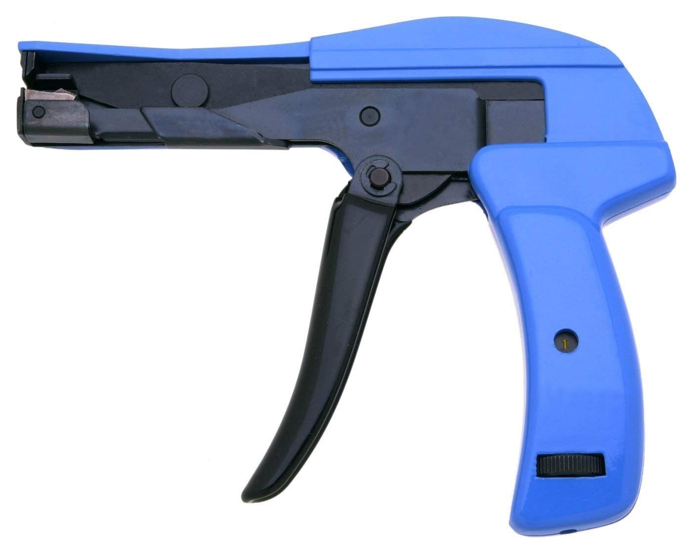 Heavy Duty HS 600A Cable Tie Gun Clamshell. Die Cast Steel Flush Cut Point DataCom Cable Tie Gun with Steel Handle 7 Length
