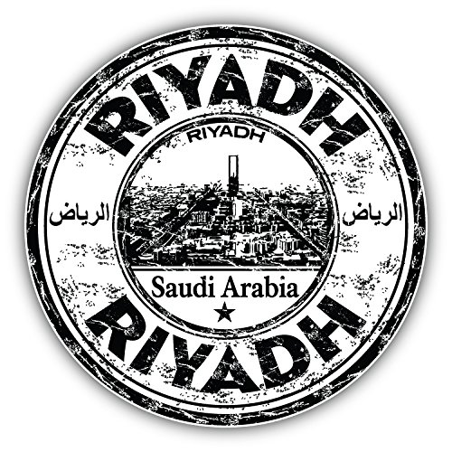 Riyadh Saudi Arabia Grunge Rubber Stamp Art Decor Bumper Sticker 5'' x 5''