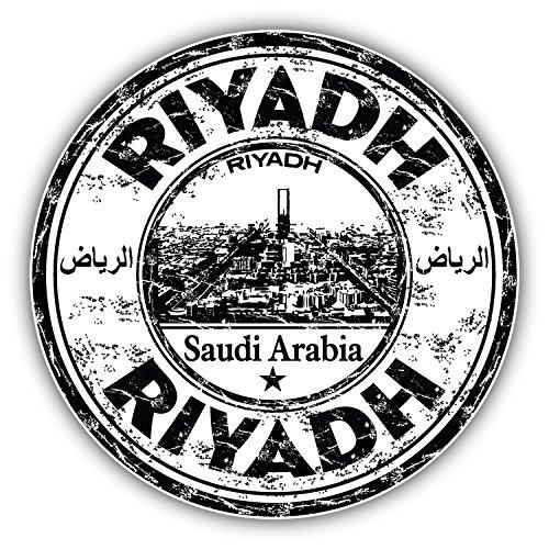 Riyadh Saudi Arabia Grunge Rubber Stamp Art Decor Bumper Sticker 5