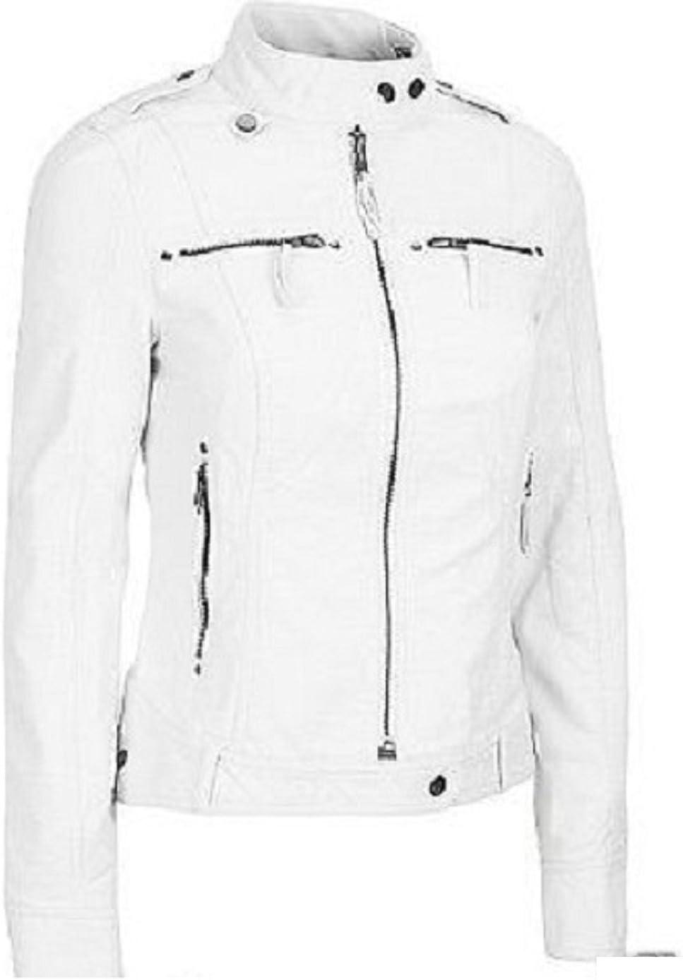 100/% New Genuine Leather Lambskin Women Biker Motorcycle Jacket Ladies LTN266