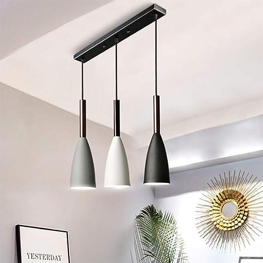 SHINEELI 3 Luces de iluminación Colgante de Techo Moderno, lámpara ...