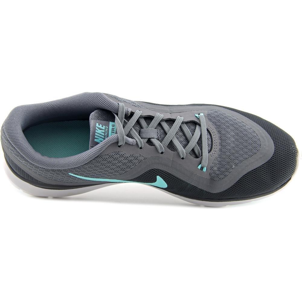 NIKE Women's Flex Trainer 6 B01A6DPPD2 11 B(M) US|Cool Grey/Hyper Turquoise/Dark Grey
