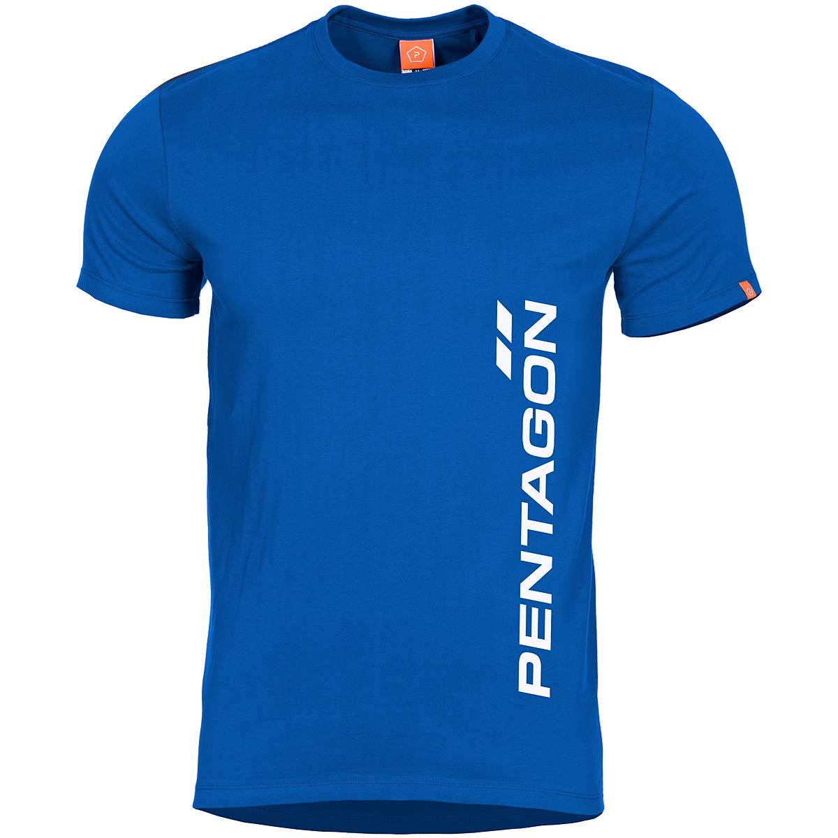 PENTAGON Hombre Ageron Camiseta Vertical Liberty Blue tamaño L ...
