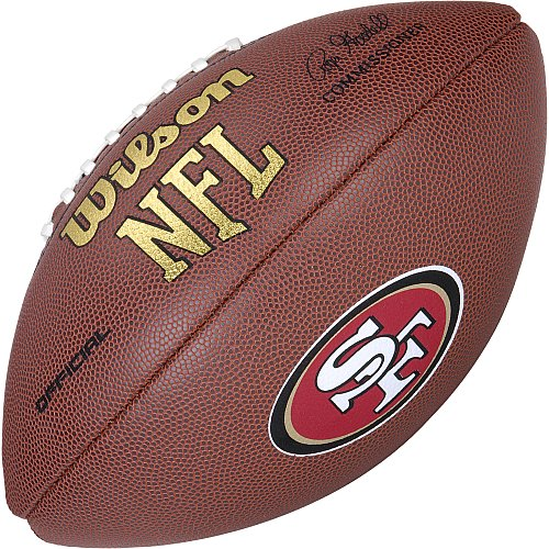 Wilson Nfl Game Logo Football (San Francisco 49ers Logo Official Football)