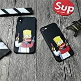 Supremely Gangster Bart Simpson iPhone Case for iPhone X XS MAX XR 10 8 7 6 6S Plus - Street Fashion Basic Protective Phone-Cover (for iPhone 6 6s)