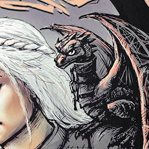 style3 Madre dei Draghi T-Shirt da Donna Trono Stark Daenerys di Targaryen Spade
