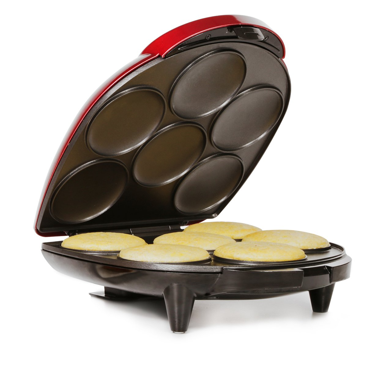 Holstein Housewares HU-09005R-M Arepa Maker - Metallic Red