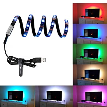 Display Beleuchtung   Hintergrundbeleuchtung Fernseher Usb Powered Led Farbstreifen Bias