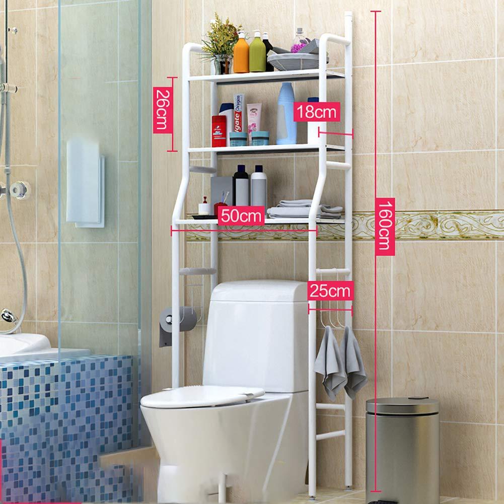 /Étag/ères de Salle de Bain /à 3 Niveaux en Acier chrom/é-1 SLMY Au-Dessus des Toilettes /Étag/ère de Rangement Espace de Salle de Bain pour Lave-Linge