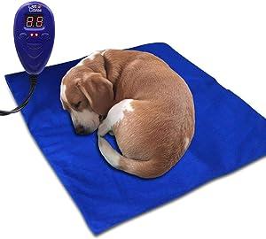 Pet Heating Pad, Upgraded Electric Dog Cat Heating Pad Indoor Waterproof, Auto Power Off