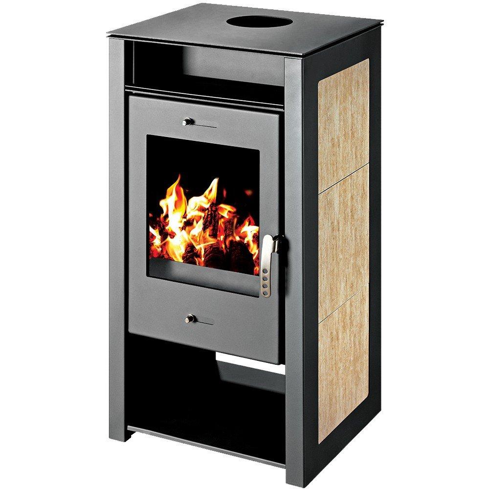 Caldera de leña estufa Victoria 05, Modelo Spectra KBO, salida de calor 12 kW, revestimiento de cerámica: Amazon.es: Bricolaje y herramientas