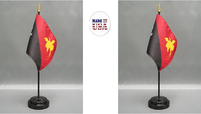 "FIJI 4X6/"" TABLE TOP FLAG W// BASE NEW DESK TOP HANDHELD STICK FLAG"