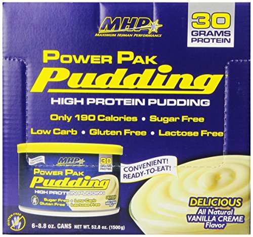 Maximum Human Performance Power Pudding Diet Supplements, Vanilla, 6 count, 8.8oz Cans by Maximum Human Performance by Maximum Human Performance