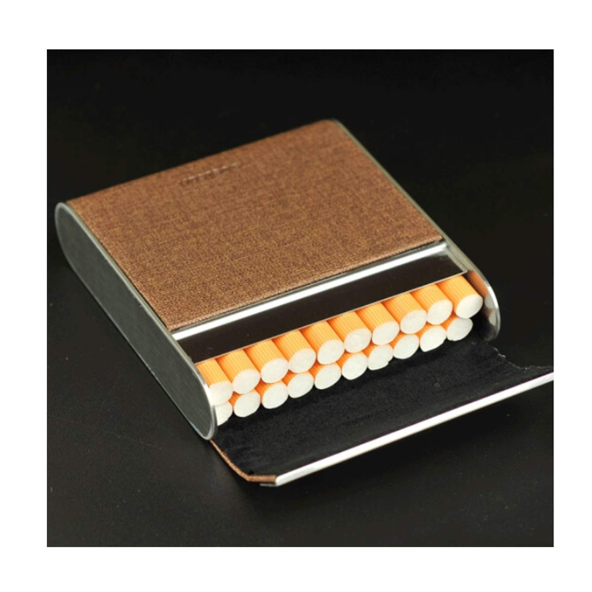 SHENGSHIHUIZHONG Cigarette Box Creative Fabric Portable Cigarette Case Men And Women Personality Flip Ultra-thin Cigarette Box Fashion Cigarette Pack Can Accommodate 20 Cigarettes (two Colors Optional
