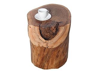 Table D Appoint Pure Tronc D Arbre En Acacia Massif