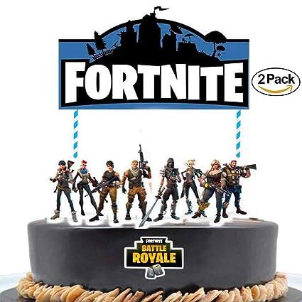 Amazon CaJaCa 2 PCS Birthday Cake Topper 7 Inches Video Game