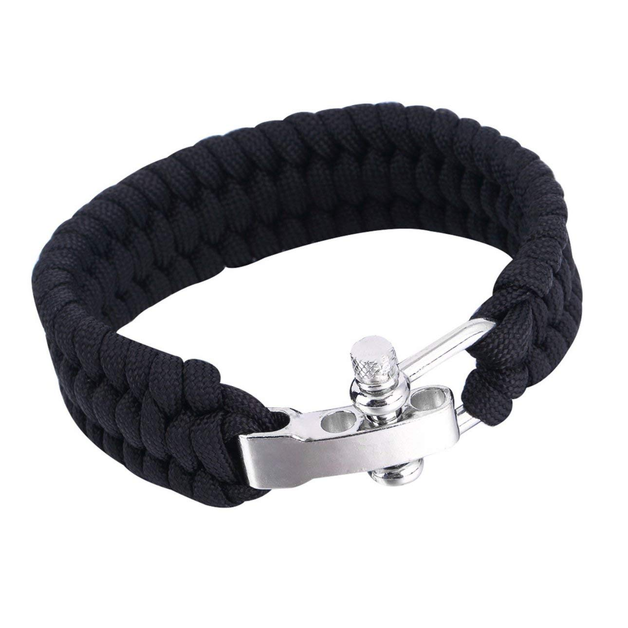 Liobaba Outdoor Survival Paracord Bracelet Camping Self-Rescue Parachute Rope Clasp