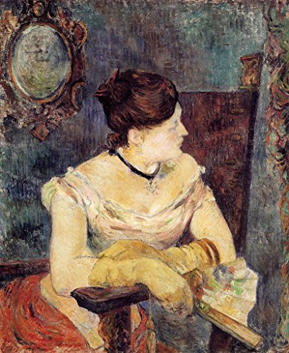 Gauguin Paul Madame Mette Gauguin in an Evening Dress 100% Hand Painted Oil Paintings Reproductions 12X16 Inch by B-Arts