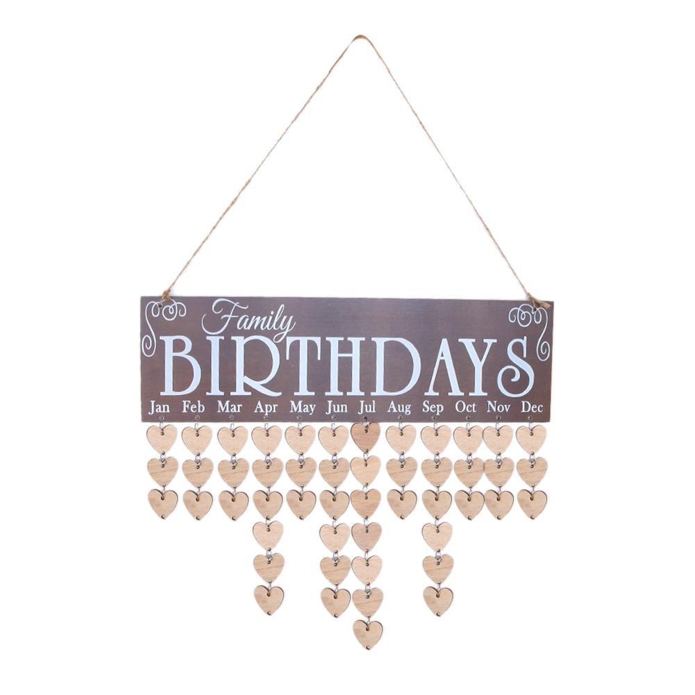Calendario in legno, famiglia Special date Sign Birthday Mark Hanging Decor Gowind6