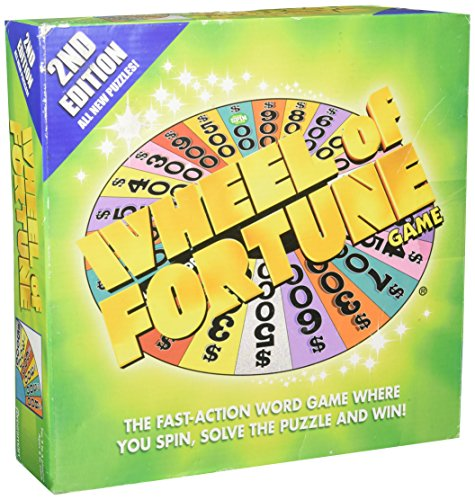 Pressman Wheel of Fortune Board Game 2nd Edition(8 and UP)