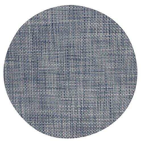 - Chilewich Denim Round Basketweave Placemat 0095-BASK-DENI